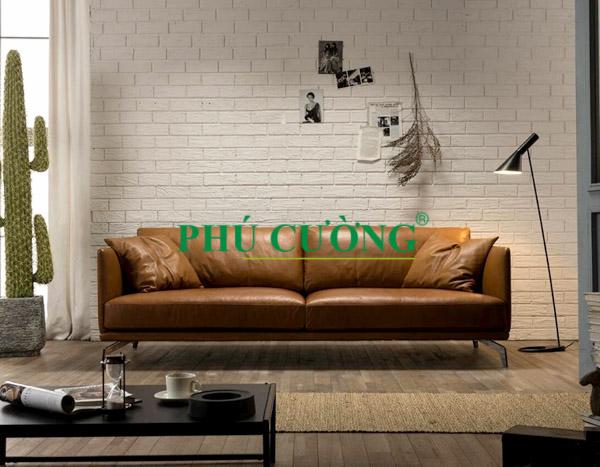 Kinh nghiệm mua sofa phòng ngủ nhỏ chất liệu da bạn cần nắm rõ 1