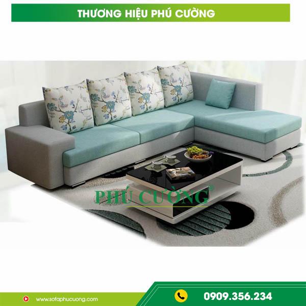 Mẹo nhỏ với sofa nỉ cỏ may nới rộng không gian phòng khách nhỏ 3