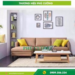 Ý tưởng phối màu cho sofa phòng khách đẹp hiện đại bọc da màu nâu
