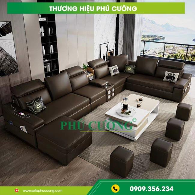 Mách bạn cách trang trí sofa đẹp phòng khách màu đen nổi bật 2