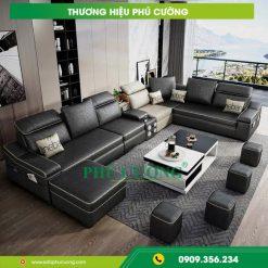 Mách bạn cách trang trí sofa đẹp phòng khách màu đen nổi bật