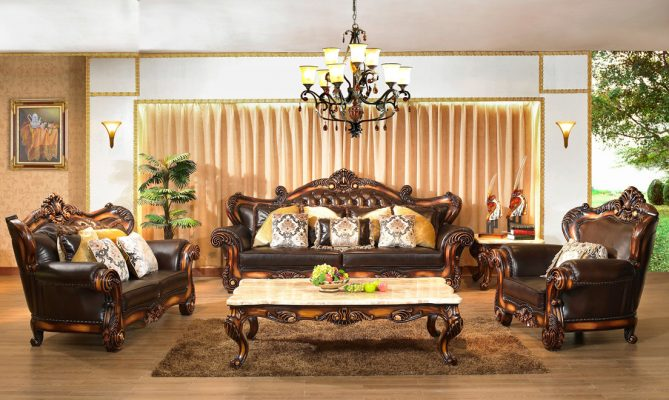 Kinh nghiệm mua sofa tân cổ điển da chất lượng cao cho phòng khách