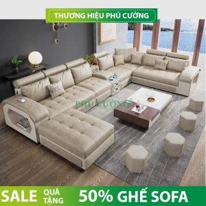 Sofa chữ U hiện đại Cần Thơ và những vị trí đặt lý tưởng trong phòng khách