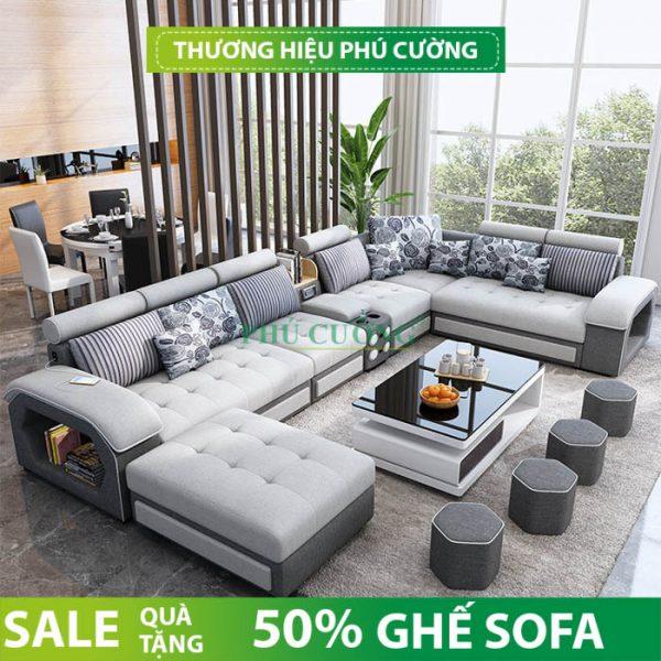 Sofa chữ U hiện đại Cần Thơ và những vị trí đặt lý tưởng trong phòng khách 2