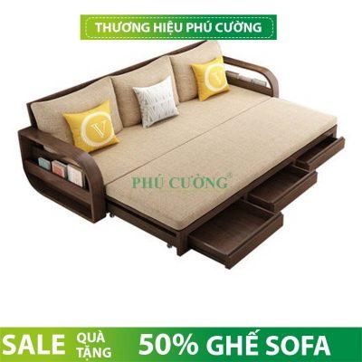 Kích thước sofa giường gỗ đẹp chuẩn như thế nào hợp lý?