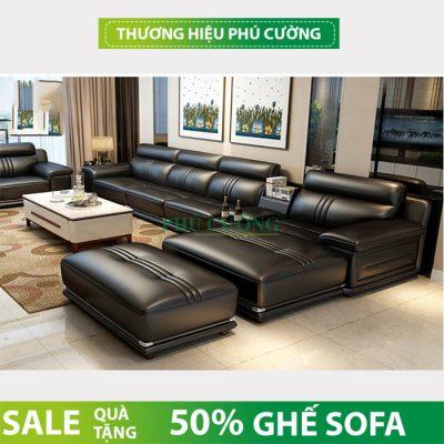 Những mẫu ghế sofa da bò thật màu đen đầy lịch lãm 4