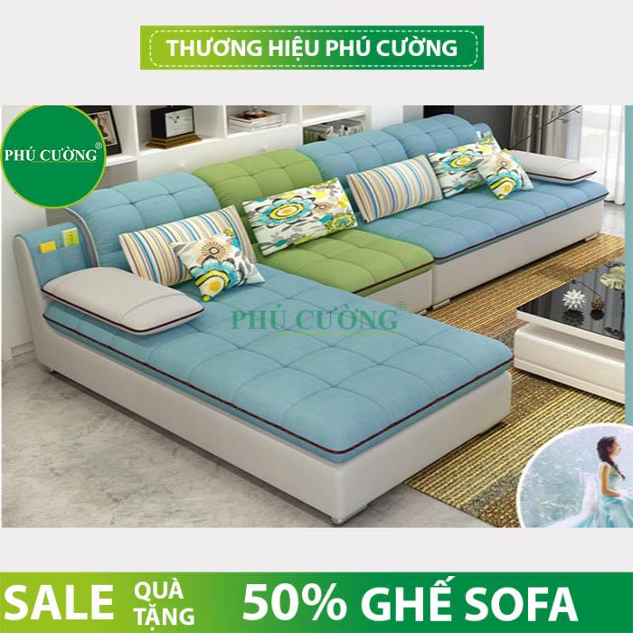 Cách chọn sofa góc vải bố hợp với không gian sống bạn nên chú ý 3