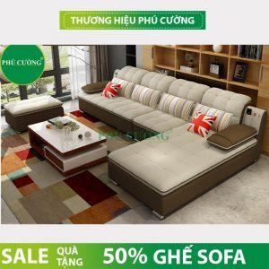 Sofa nỉ nhập khẩu tại Hồ Chí Minh màu nâu - sự lựa chọn của nhiều gia đình Việt