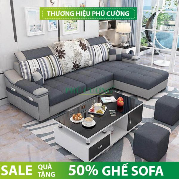 Tư vấn chọn mua sofa phòng khách đẹp hiện đại chất liệu nỉ 2