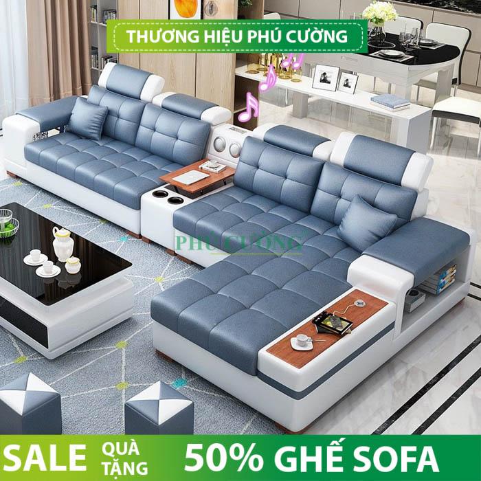 Sofa da quận Bình Thủy rất nổi bật trong phòng khách 2