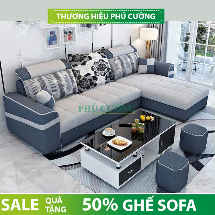 Cách chọn sofa góc vải bố hợp với không gian sống bạn nên chú ý 2