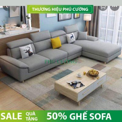 Sofa chữ L Đồng Tháp tận dụng mọi góc chết của phòng khách 2